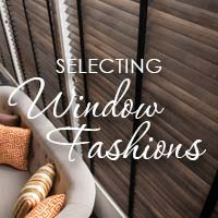 Our team makes selecting the perfect window fashions easy - stop by today!