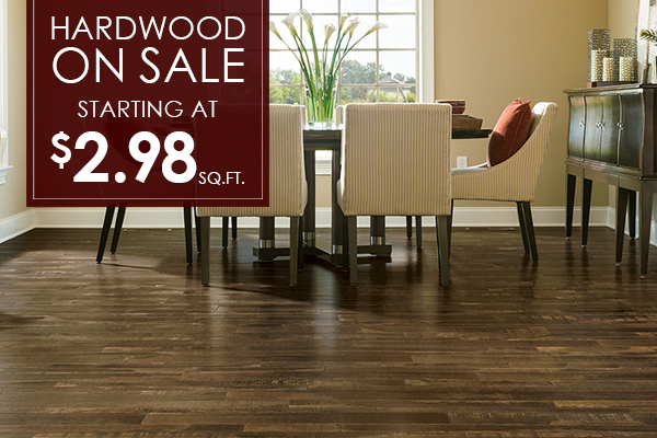 Hardwood on sale starting at $2.98 sq.ft.