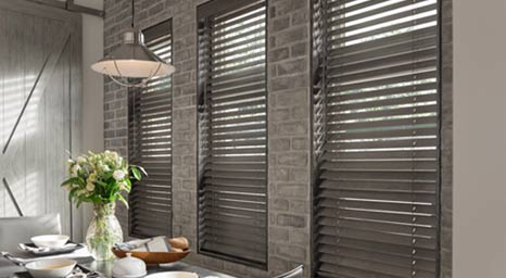 Graber wood blinds offer precise light control and luxurious design. Find the perfect Graber wood blinds for your home by choosing from an array of colors in our showroom.