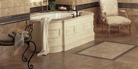 Tile Floor - Bathroom Scene