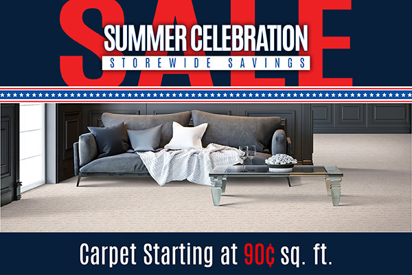 Carpet starting at 90¢ sq.ft. while supplies last at Floorco Design Center in OKC!