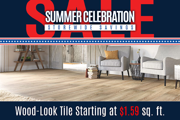 Wood-look tile starting at $1.59 sq.ft. while supplies last at Floorco Design Center in OKC!